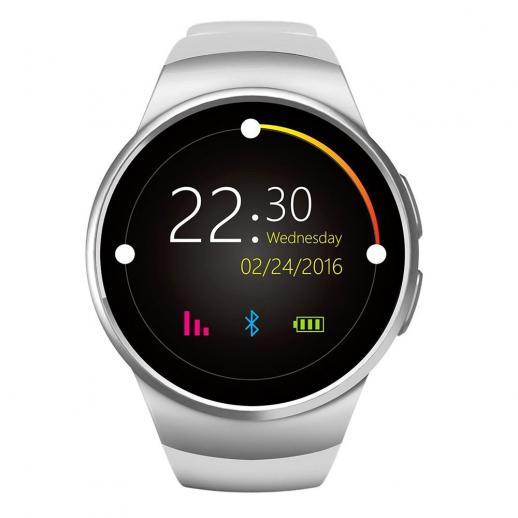 KingWear KW18 Dial Redondo Smartwatch Pedômetro Bluetooth 4.0 Monitor de Freqüência Cardíaca - prata
