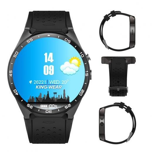 Kingwear KW88 Bluetooth Smartwatch Watchphone Wifi 3G GPS - Black