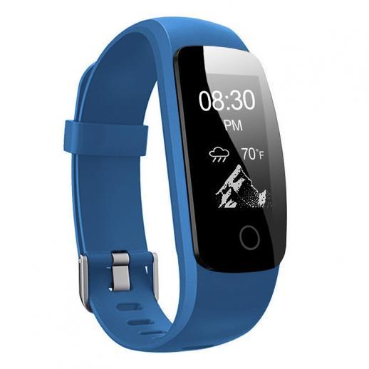 ID107Plus Monitor de Freqüência Cardíaca com Monitor de Fitness com Bracelete Inteligente - Azul