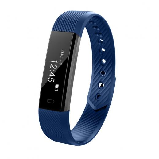 ID115 Smart Bracelet Sports Fitness Tracker - Blue