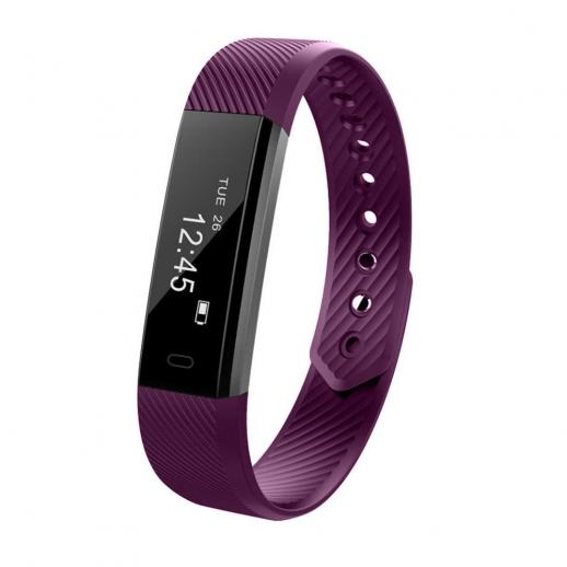 ID115 Smart Bracelet Sports Fitness Tracker - Purple