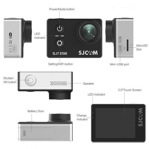 SJCAM SJ7 Star Wifi Action Camera 4K/30FPS