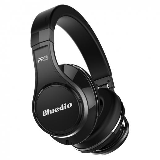 Bluedio U (UFO) Bluetooth Headphones Over-Ear Revolution/3D Sound Effect/Hi-Fi - Black