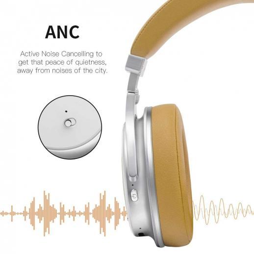 Bluedio F2 Active Noise Cancelling Bluetooth Headphones - White