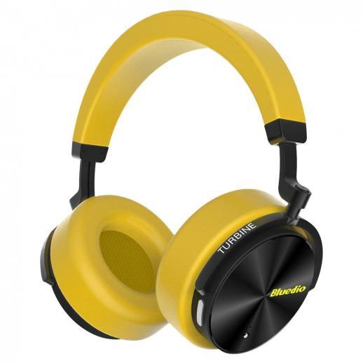 Bluedio T5 Active Cancelamento de Ruído Fones de Ouvido Bluetooth - Amarelo
