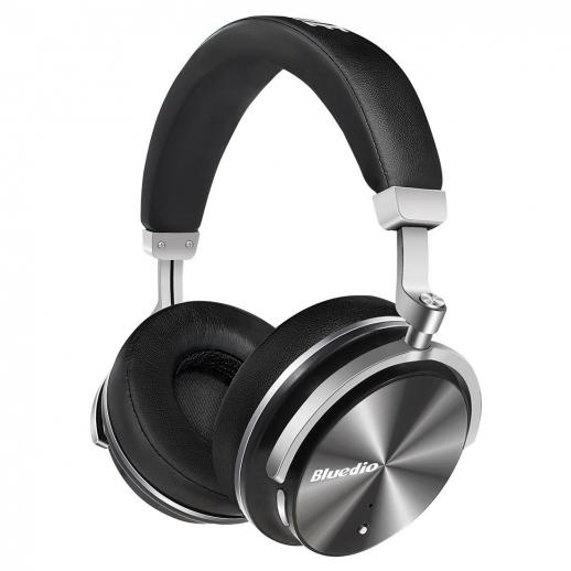 Bluedio T4S Active Noise Cancelling Bluetooth Headphones - Black