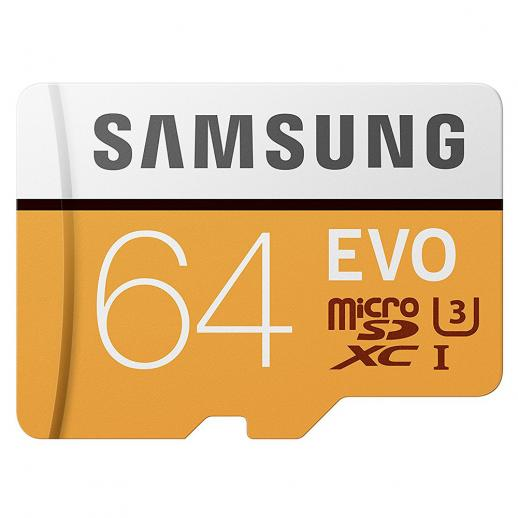 Samsung 64GB MicroSD EVO Memory Card 100MB/s U3