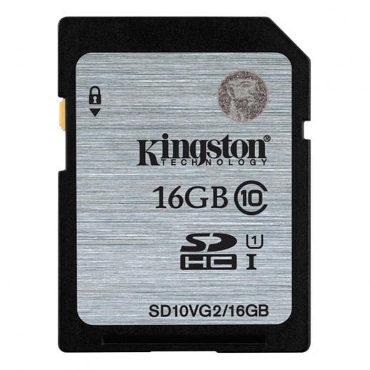 キングストン16GB SDHCメモリーカードクラス10 UHS-I 45R / 10W