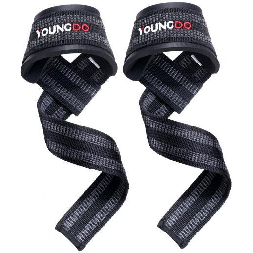 Correias de elevação, correias de pulso Correias de barras de mão para força Ginásio anti-derrapante acolchoado em neoprene para fortalecer o aperto para levantamento de peso, levantamento de peso, musculação, treinamento de força, levantamento de peso -