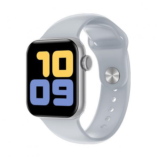 Kingwear V52 2020 relógio inteligente homens IP68 à prova d 'água natação freqüência cardíaca pressão arterial Smartwatch tela de toque completa para Android iOS-Prata