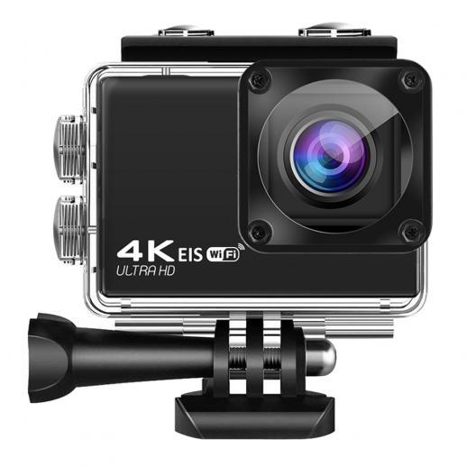 Nova câmera esportiva à prova d'água 4K60FPS WIFI com controle remoto de toque e anti-vibração câmera esportiva ao ar livre DV preto