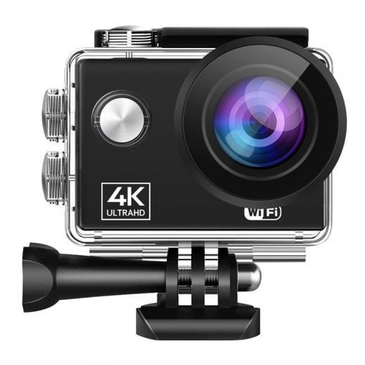 AT-Q40C4K60FPSスポーツアクションカメラUltraHDカムコーダー13MPWiFi防水カメラ(ブラック)