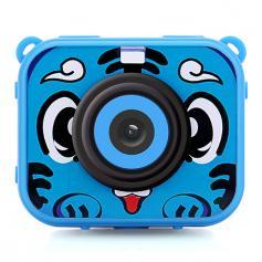 AT-G20G Kids Camera Waterproof 1080P HD Action Camera for Birthday Holiday Gift Camera Toy 2.0'' LCD Screen (blue)