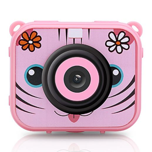 AT-G20G Kids Camera Waterproof 1080P HD Action Camera for Birthday Holiday Gift Camera Toy 2.0'' LCD Screen (pink)