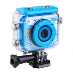 AT-G20B Kids Action Camera 1080P HD Waterproof Video Digital Children Sports Camcorder, 32GB TF Card (Blue)