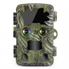 H8201 4K  Trail Camera Dual-Lens with Starlight Night Vision Wildlife Camera, Activated Game Camera for Hunting Outdoor Wildlife Monitoring