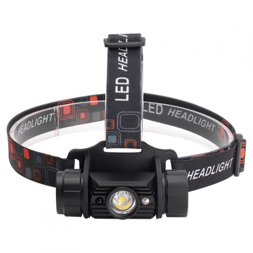 BORUiT - Farol de indução XPE RJ-020 com sensor de movimento, lanterna recarregável LED recarregável, luz de acampamento ou caça, 18650 lm
