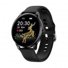 """LW29 1.28"""" Amoled Smart Sports Watch Full Circle Full Touch Ultra-Thin Heart Rate Blood Pressure Blood Oxygen Multi Sports Modes IP68 Waterproof Black"""