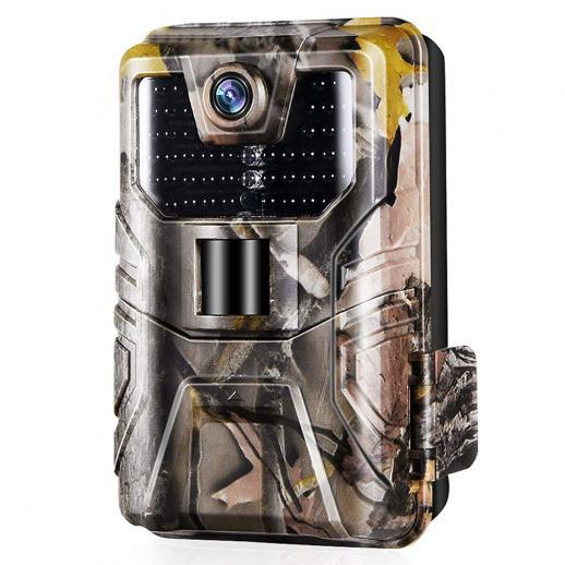 Trail Camera WiFi 24MP 1296Pナイトビジョンモーションがアクティブになり、屋外の野生生物を監視するための120°DetectionAngelを備えたBluetoothゲームカメラをアップグレードします