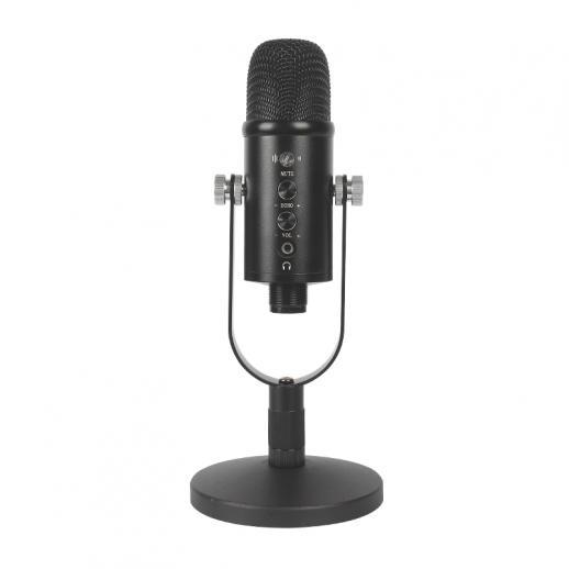 Microfone condensador USB conjunto cantilever computador doméstico gravação de jogo de alta amostragem redução de ruído monitorando microfone com fio