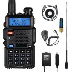 BF-UV5R (third generation UV-5R) 5W dual-band two-way radio (136-174MHz VHF and 400-520MHz UHF) 1800mAh long battery life (USB connector)