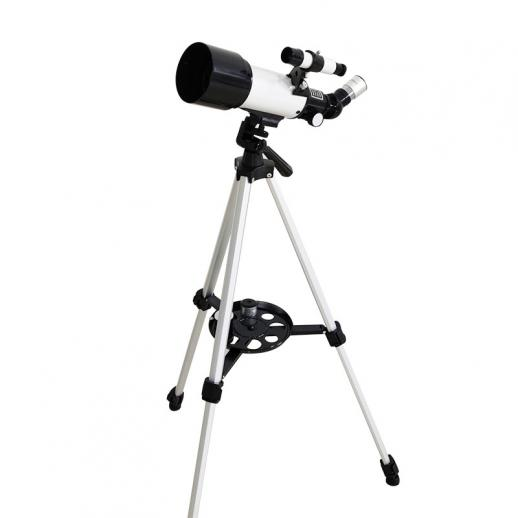 Children Beginner Astronomical Refracting Telescope 70mm Aperture 400mm Focal Length Travel Telescope with Carrying Bag, Adjustable Tripod