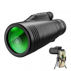 12x50 Monoculars Anti-Fog High-Power Single-Lens Telescope with Phone Holder & Tripod BAK4 Prism for Wild Animals Hunting, Camping, Trip