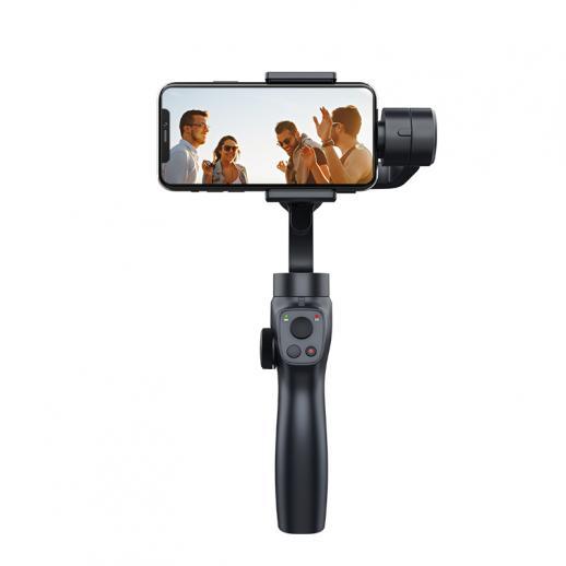 ダイナミックな顔/オブジェクト追跡機能を備えた、iPhoneおよびAndroidフォンとGoProスポーツカメラに適した超安定した防振3軸ジンバルスタビライザー