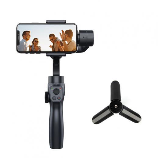 ダイナミックな顔/オブジェクト追跡機能を備えた、iPhoneおよびAndroidフォンとGoProスポーツカメラに適した超安定した防振3軸ジンバルスタビライザー(セット)