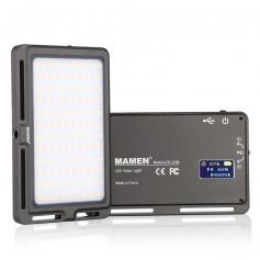 Mini Portable Bi-Color LED Fill Light 3000k-6500k Adjustable Brightness Built-in 3000mah Battery for Mobile Phones, Cameras, Camcorders