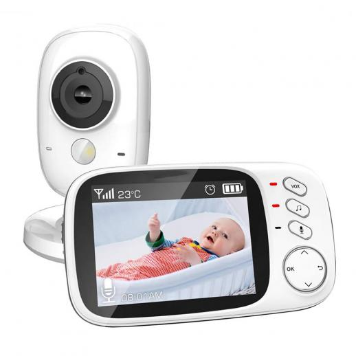 """Baby Monitor 3.2"""" Video Baby Monitor with Camera & Audio Two-Way Talk US Plug"""