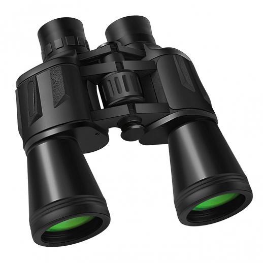 20x50の大人用ハイパワー双眼鏡、低照度暗視、BAK4プリズム、FMC多層コーティングレンズ、防曇、毎日の防水、バードウォッチング、旅行、コンサート、アウトドアスポーツに最適、ミラーバッグとストラップ付き