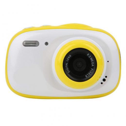防水子供用カメラ、水中デジタル子供用カメラ5MPフルHD 720pビデオかわいいカメラ2.0インチLCD、6倍デジタルズーム、女の子/男の子用防水カメラ(黄色)