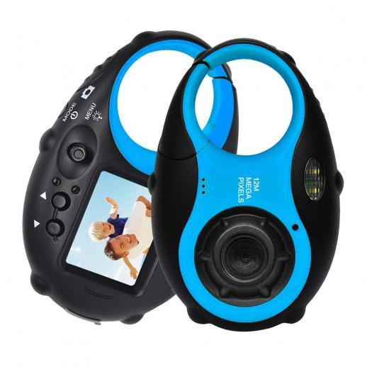子供用カメラかわいいカメラ12MP4×デジタルズーム、ビデオ付きデジタル子供用カメラ、男の子と女の子用のフォトフレーム付きミニ子供用カメラ(黒と青)