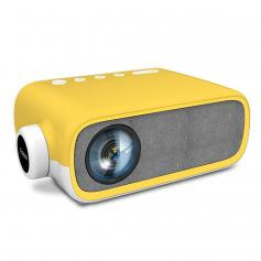 YG280 LED 1080p  Portable Home Theater Mini Pocket Projector - Yellow (UK Plug)