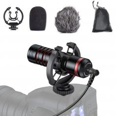 Professional Mini Camera Video Microphone Shotgun Mic With Shock Mount