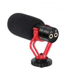 External Video Microphone Shotgun Mic for Camera & Phone With Shock Mount