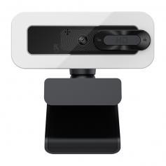 C202 30FPS Webcam with Fill Light Autofocus 2K HD USB Webcam with Microphone Plug and Play Webcam USB Webcam for PC Desktop Mac Zoom Skype YouTube
