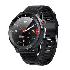 L15 color screen full touch smart watch, black, heart rate blood pressure and blood oxygen, LED, 10 exercise mode monitoring, 370mah, call reminder, support call rejection, IP68 waterproof smart watch