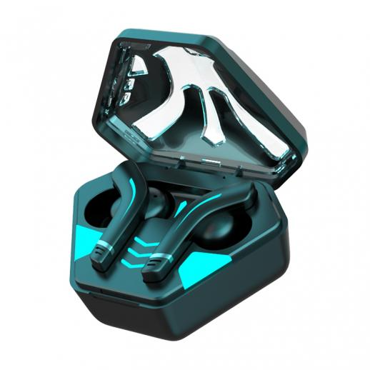 TWS Game Headset Wireless Bluetooth Earbuds Breathing Light Type-C Charging