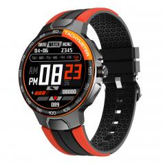 E15  1.28 inch IPS full touch color screen smart bracelet, heart rate blood pressure and blood oxygen, IP68 waterproof, music control, outdoor sports , suitable for Android and iOS phones orange