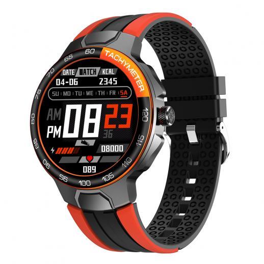 E15 1.28インチIPSフルタッチカラースクリーンスマートブレスレット、心拍数血圧と血中酸素、IP68防水、音楽制御、アウトドアスポーツ、AndroidおよびiOS電話オレンジに適しています