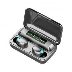 TWS Bluetooth Headset 2000mah Wireless Charging Sports Headset Black