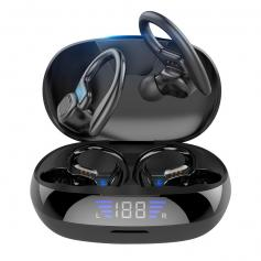 TWS Bluetooth Headset With Microphone Sports Ear Hook LED Display Earbuds
