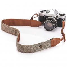 Retro Camera Shoulder Straps, Adjustable Neck Strap Suitable for All Slr Cameras (Nikon Canon Sony Pentax) Classic Brown Woven