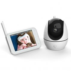 """720P 4.5"""" HD Display ABM200S Video Baby Monitor WIth Night Vision and 2600mAh Batteries"""