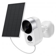 Solar Outdoor Security Camera Set 1080P HD Motion Detection Wireless Surveillance Camera with Rechargeable Battery 2-Way Audio