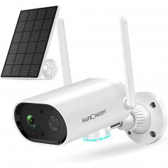 Solar Security Camera Outdoor WiFi IP Camera Wireless 1080P HD with Color Night Vision & Audio IP66 Waterproof Battery-Powered Surveillance Camera