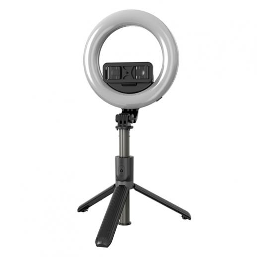 L07 with 6-inch ring light, tripod, mobile phone holder, Bluetooth remote control, 3 in 1 portable LED fill light selfie stick tripod, dimmable 3 colors, suitable for YouTube, video, TikTok, live makeup
