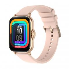 Y20 smart watch with heart rate and sleep monitoring, 1.7-inch full touch screen, smart female and male fitness watch, compatible with Android iPhone iOS rose gold